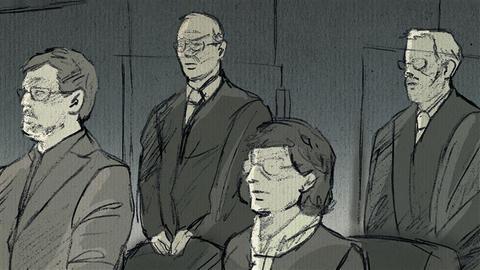 Illustration zum Blog über Lübcke-Prozess
