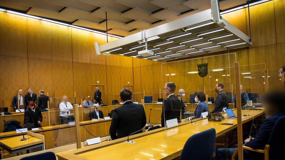 Blick in den Gerichtssaal während des Lübcke-Prozesses.