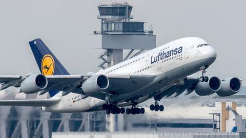 Lufthansa A380 Frankfurt
