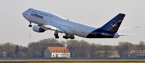 Eine Boeing vom Typ 747-8.