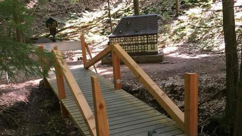 Die Brücke in der Obrunnschlucht musste gesperrt werden.
