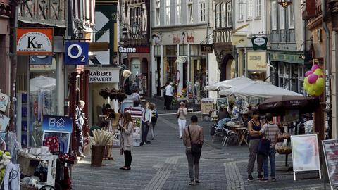 Fußgängerzone Marburg