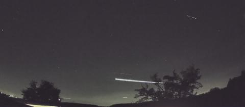 Meteorit über Hessen