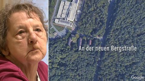 Pfungstädter Mieterin Rosemarie von Wenzlawowicz, Karte von Wohnort