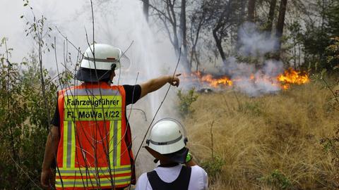 Einsatzkräfte der Feuerwehr Mörfelden-Walldorf vor Ort