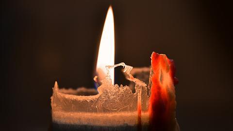 Nahaufnahme Kerze