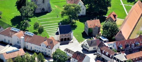 Momentaufnahme - Kloster Lorsch von oben