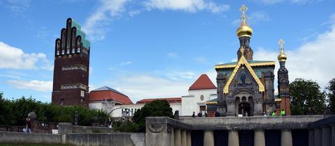 """""""Das UNESCO Welterbe Künstlerkolonie Mathildenhöhe in Darmstadt ist ein lohnendes Ausflugsziel"""", schreibt hessenschau.de-Nutzer Georg Schade aus Höchst-Hummetroth zu seinem Foto."""