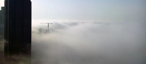 """""""Das Bild konnte ich im Frühstücksraum eines Hotels an der Frankfurter Messe aufnehmen"""", schreibt uns hessenschau.de-Nutzer Marcel Gruber am Mittwochmorgen. Haben Sie auch ein außergewöhnliches Bild aus Hessen? Dann schicken Sie uns Ihr Foto an foto@hessenschau.de."""