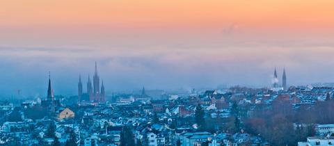 Blick vom Neroberg auf die Landeshauptstadt Wiesbaden