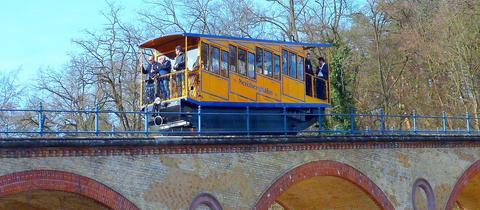 Die Nerobergbahn in Wiesbaden.