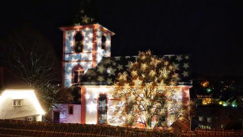 Ev. Michaelskirche zur Reichelsheimer Lichterweihnacht