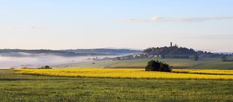 Die schöne Morgenstimmung bei Reichenborn hat hessenschau.de-Nutzer Heiko Schwarz mit seiner Kamera eingefangen.