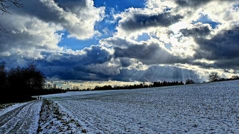 Schneelandschaft bei Kelkheim