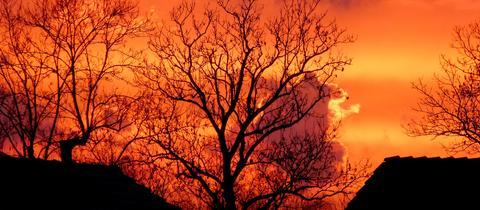 Sonnenuntergang in Schwalmstadt-Trutzhain