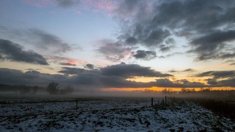 Momentaufnahme-Sonnenuntergang-Lich