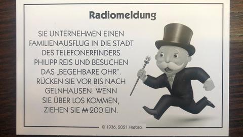 """Das Maskottchen """"Mr. Monopoly"""" in Gelnhausen"""