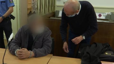 Der Angeklagte Lothar R. vor dem Landgericht Frankfurt
