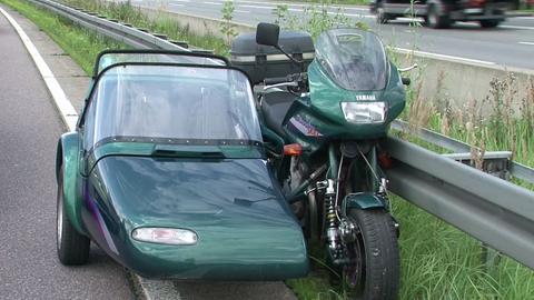 Das Motorrad rollte ohne Fahrer noch 200 Meter weiter.