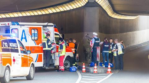 Rettungskräfte am Einsatzort