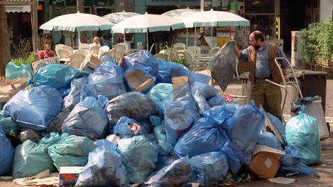 Müll auf der Frankfurter Zeil