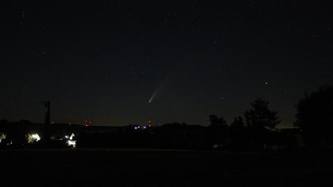 Komet Neowise über Vockenrod im Vogelsberg