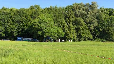Spurensicherung im Niddapark in Frankfurt
