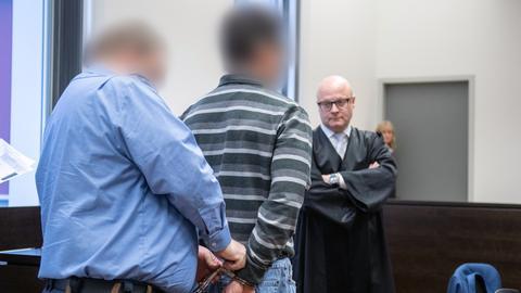 Einblick in den Gerichtssaal im Prozess