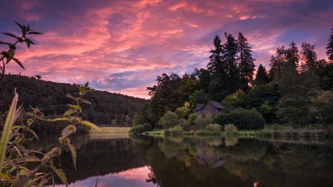 Sonnenaufgang am Marbach Stausee