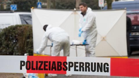 Die Spurensicherung am Tatort in Offenbach