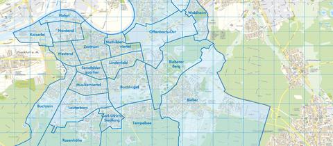 Alle 21 Stadtteile von Offenbach