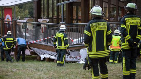 Eingestürzte Terrasse im Opel Zoo Kronberg