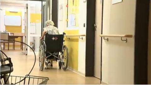 Aufnahme im Innern des Pflegeheims.