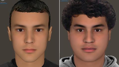 Phantombilder der beiden Tatverdächtigen.
