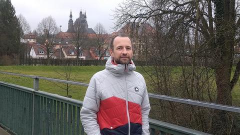 Philipp Weidemann auf der damaligen Demoroute.