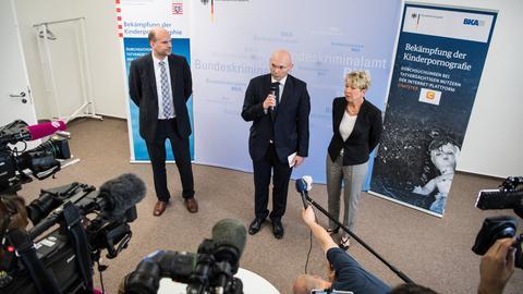 Pressekonferenz beim BKA in Wiesbaden