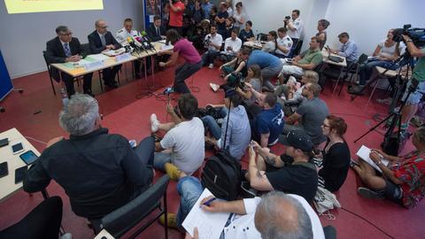 Pressekonferenz zum Fall Susanna.