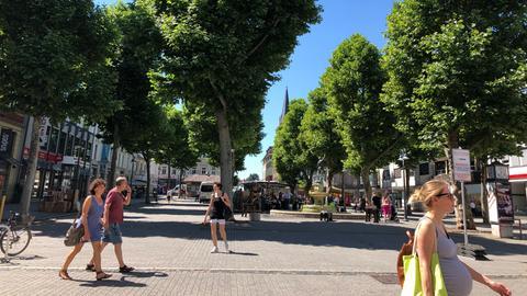 Der Limburger Neumarkt mit seinen Platanen