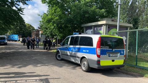 Polizeieinsatz an der Flüchtlingsunterkunft