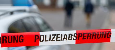"""Band mit der Aufschrift """"Polizeiabsperrung"""""""