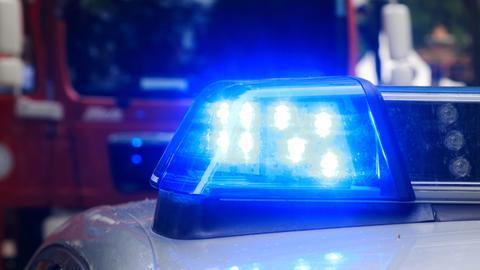 Blaulicht auf Polizeiwaagen