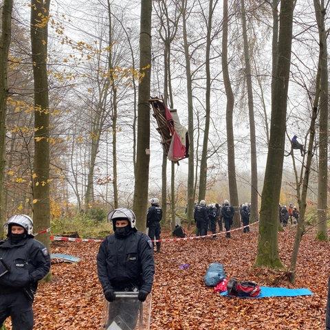Dannenröder Forst Polizei Absturz