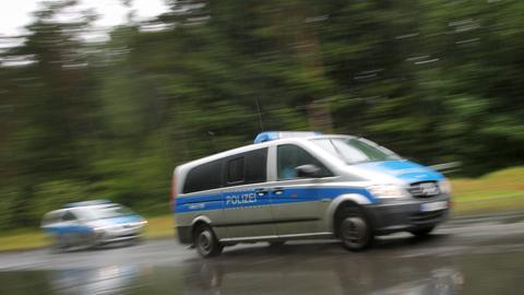 Polizeiwagen in Fahrt