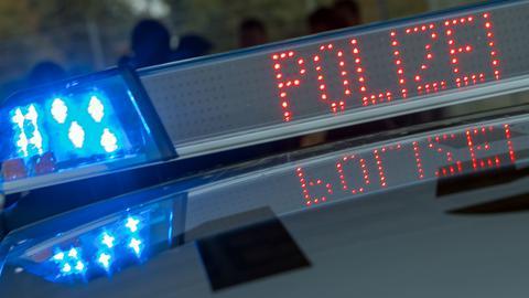 Polizeiwagen im Einsatz.