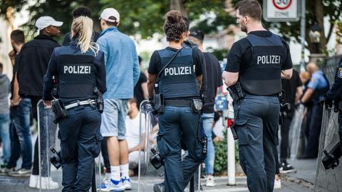 Polizeieinsatz Darmstadt Herrngarten