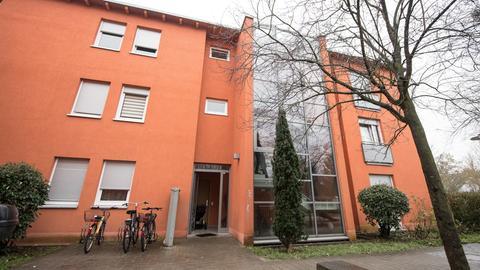 In diesem Haus in Darmstadt wurde ein Mann erschossen.