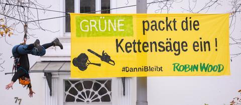 Protest vor der Grünen-Parteizentrale