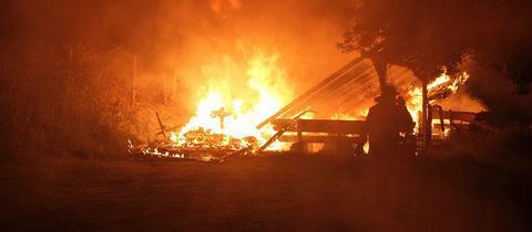 Brand auf Campingplatz in Hosenfeld (Vogelsberg)
