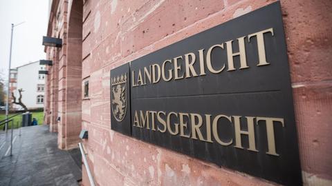 Einganz zum Landgericht Hanau