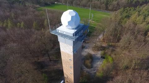 Radar-Station des Deutschen Wetterdienstes in Offenthal